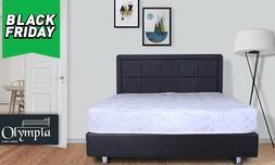מיטה עם מזרן וארגז מצעים