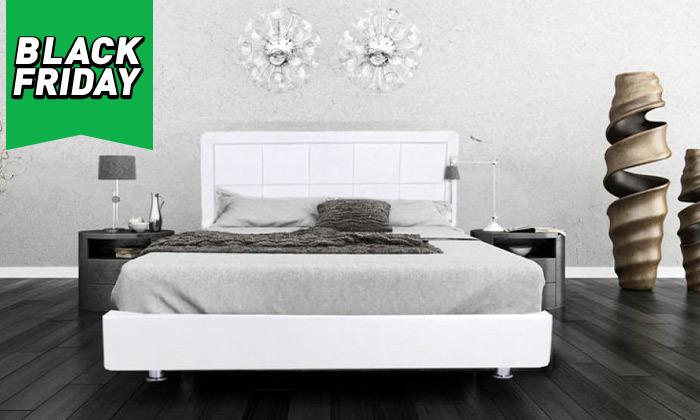 3 מיטה מרופדת עם מזרן וארגז מצעים - מידות וצבעים לבחירה