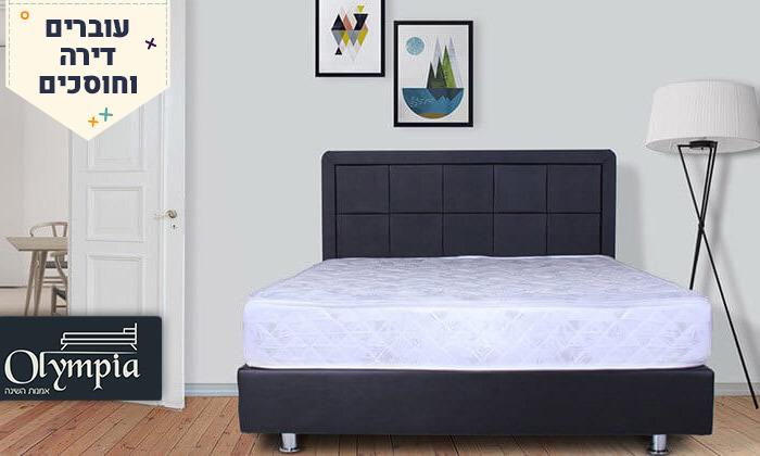 2 מיטה מרופדת עם מזרן וארגז מצעים - מידות וצבעים לבחירה