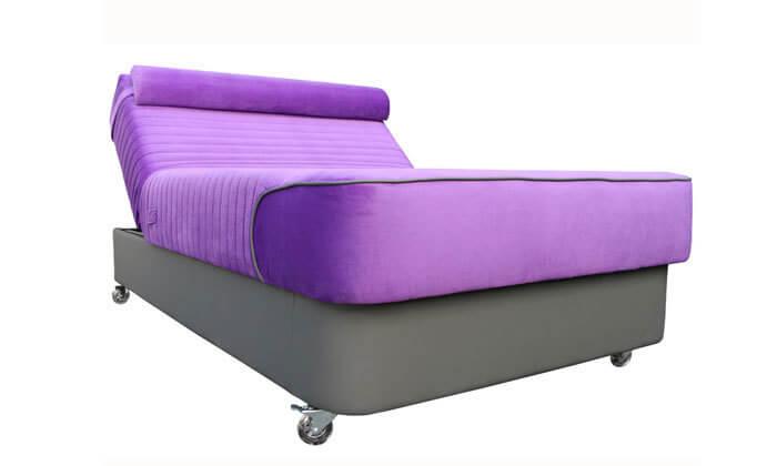 2 מיטת נוער עם ראש מתכוונן