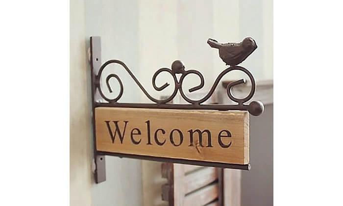 2 שלט כניסה לבית WELCOME