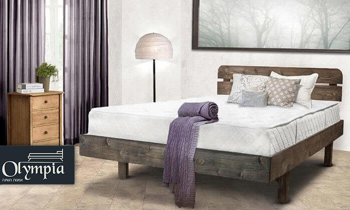 2 מיטה זוגית מעץ מלא - מזרן מתנה