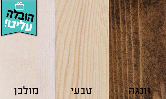 3 מיטה זוגית מעץ מלא כולל מזרן קפיצים - משלוח חינם