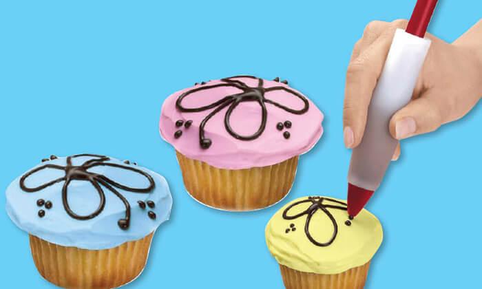 3 עט לקישוט עוגות - משלוח חינם!