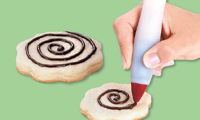 5 עט לקישוט עוגות - משלוח חינם!
