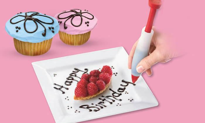 2 עט לקישוט עוגות - משלוח חינם!