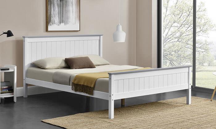 3 מיטה זוגית מעץ מלא HOME DECOR