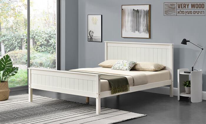 8 מיטה זוגית מעץ מלא HOME DECOR