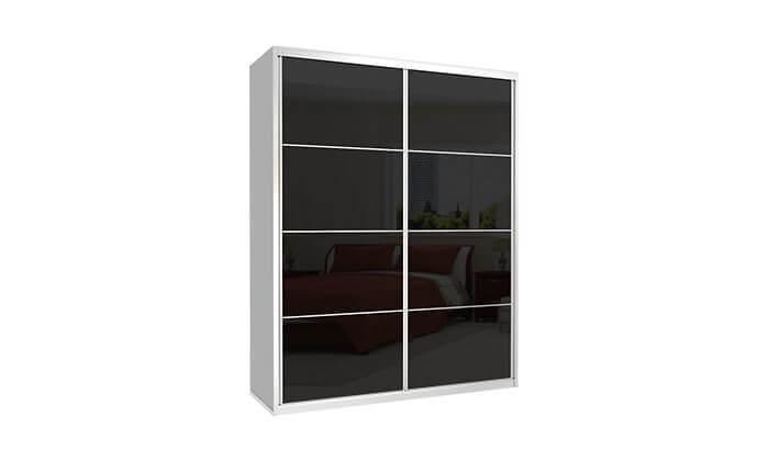 6 ארון הזזה כרמל 2 דלתות זכוכית