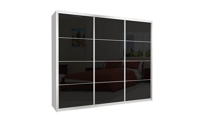 7 ארון הזזה כרמל 3 דלתות זכוכית