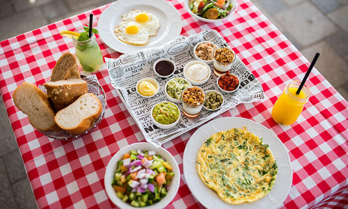 2 ארוחת בוקר זוגית בפרדיסו, אשקלון