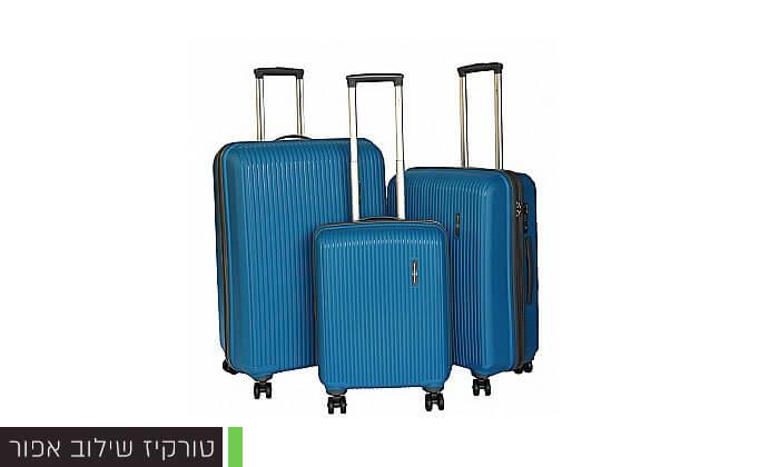 5 סט 3 מזוודות קשיחות Swiss Voyager