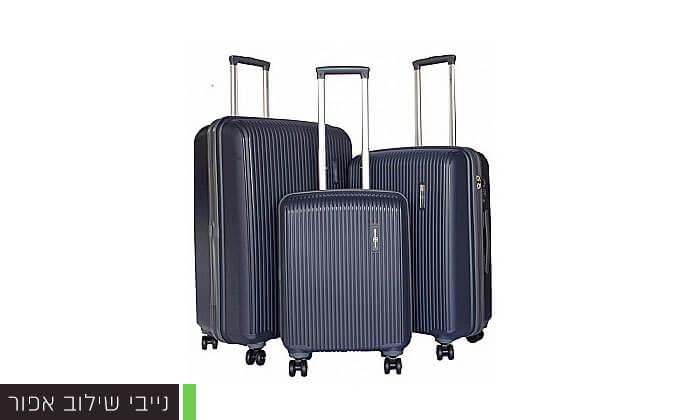 6 סט 3 מזוודות קשיחות Swiss Voyager