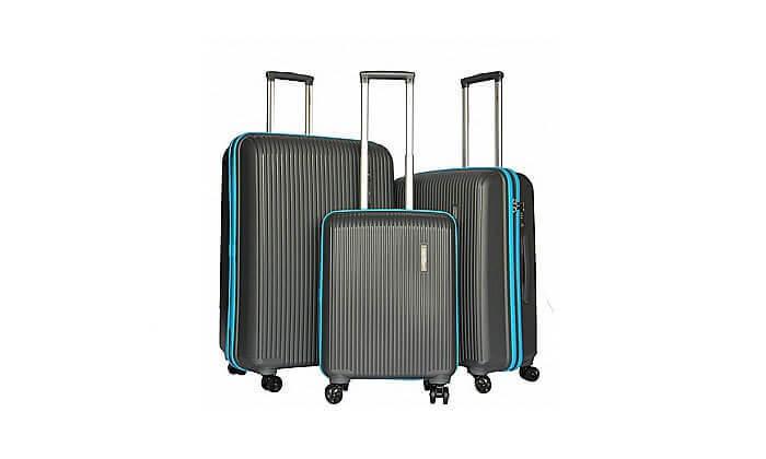 7 סט 3 מזוודות קשיחות Swiss Voyager