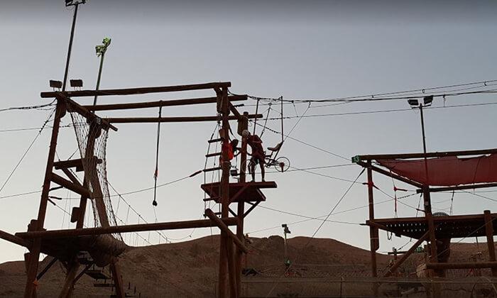 15 כניסה לפארק החבלים בחוות הגמלים אילת, כולל קפיצת בנג'ו