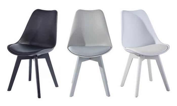 2 כסא מרופד לפינת אוכל HOMAX