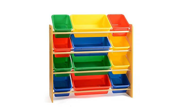 4 ארגונית צעצועים לילדים 4קומות
