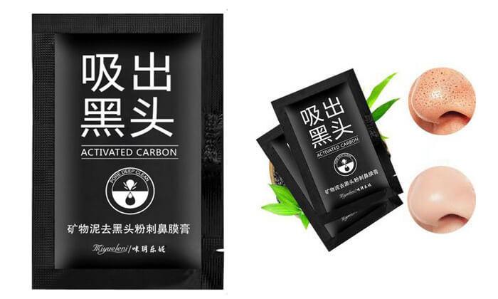 2 מסכת פחם לניקוי שחורים מהאף - מארז 10 יחידות