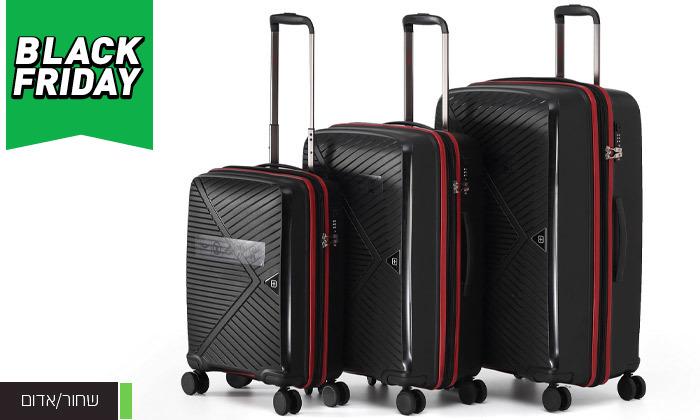 5 סט 3 מזוודות קשיחות SWISS