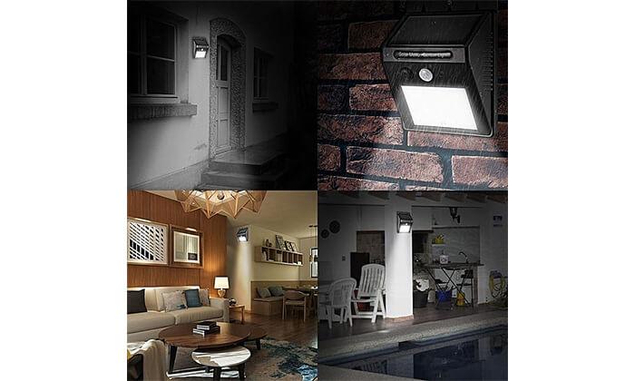 6 תאורת LED סולארית עם חיישן תנועה - משלוח חינם