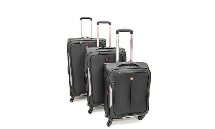 7 סט 3 מזוודות בד SWISS BRAND