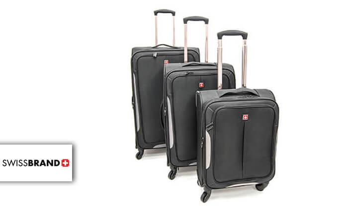 2 סט 3 מזוודות בד SWISS BRAND