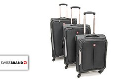 סט 3 מזוודות בדSWISS BRAN
