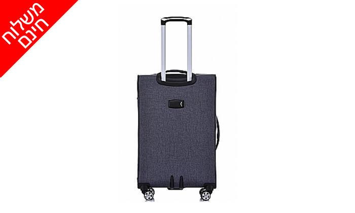 7 סט 4 מזוודות בד SWISS VOYAGER - משלוח חינם