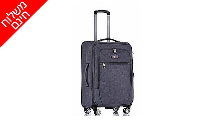 9 סט 4 מזוודות בד SWISS VOYAGER - משלוח חינם