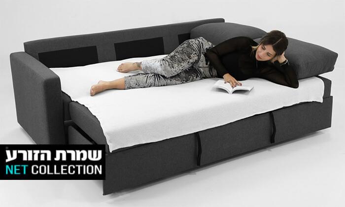 2 שמרת הזורע: ספה תלת-מושבית נפתחת למיטה