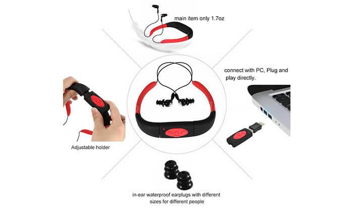 4 נגן מוסיקה MP3 לשחייה