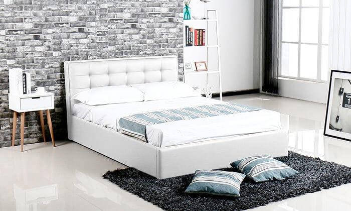 מיטה עם ארגז מצעים עשויה עץ ולביד Vitorio Divani