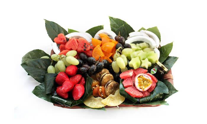 3 הזמנת מגשי פירות אקזוטיים עם 3 יחידות סושי פירות מתנה