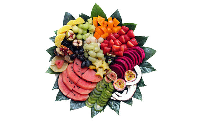 10 הזמנת מגשי פירות אקזוטיים עם 3 יחידות סושי פירות מתנה