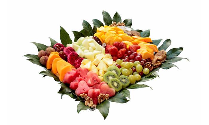 12 הזמנת מגשי פירות אקזוטיים עם 3 יחידות סושי פירות מתנה
