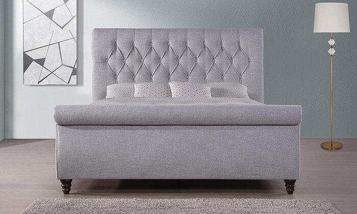 3 מיטה זוגית עם בסיס עץ מלא, הום דקור - HOME DECOR, דגם ונוס