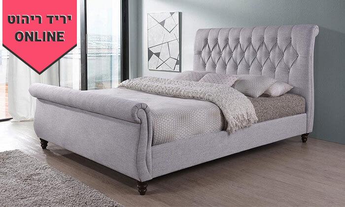 5 מיטה זוגית עם בסיס עץ מלא, הום דקור - HOME DECOR, דגם ונוס
