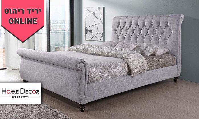 2 מיטה זוגית עם בסיס עץ מלא, הום דקור - HOME DECOR, דגם ונוס