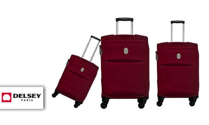 2 סט 3 מזוודות דלסי DELSEY