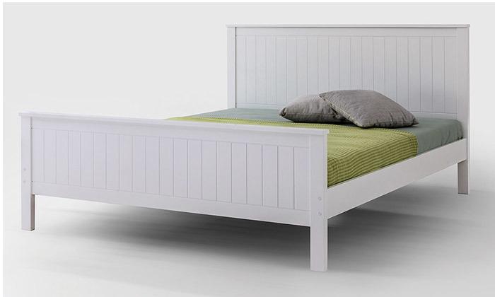9  שמרת הזורע - מיטה עם בסיס עץ משולב