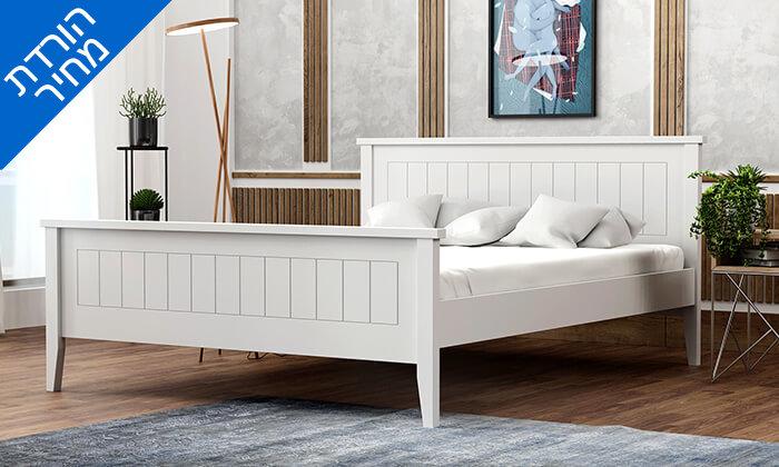 4  שמרת הזורע - מיטה עם בסיס עץ משולב