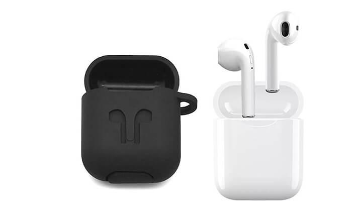 6 אוזניות Bluetooth אלחוטיות כולל נרתיק נשיאה