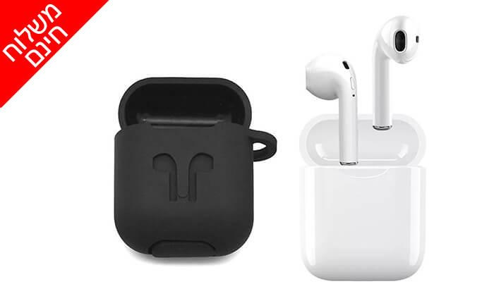 6 אוזניות Bluetooth אלחוטיות כולל נרתיק נשיאה מתנה - משלוח חינם !