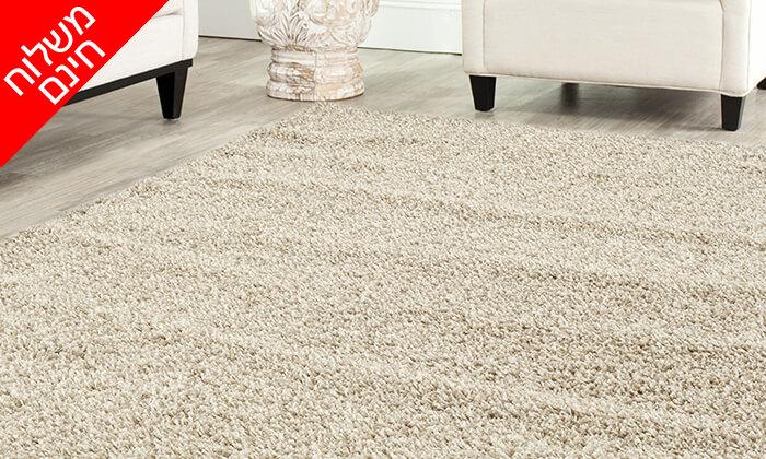 2 שטיח שאגי לסלון במבחר גדלים וצבעים - משלוח חינם