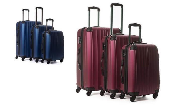 10  סט 3 מזוודות קשיחות CalPak
