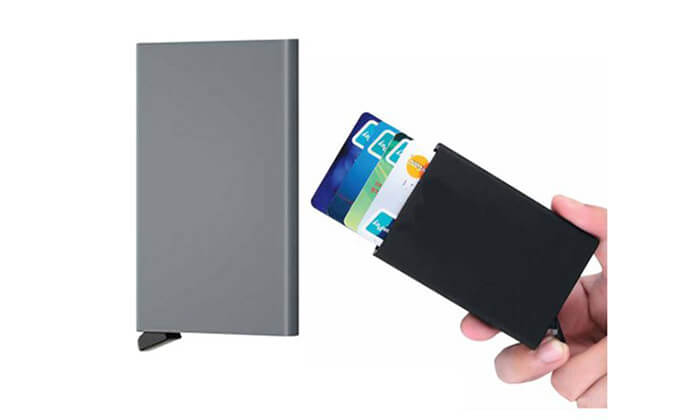 3  ארנק אלומיניום לכרטיסי אשראי