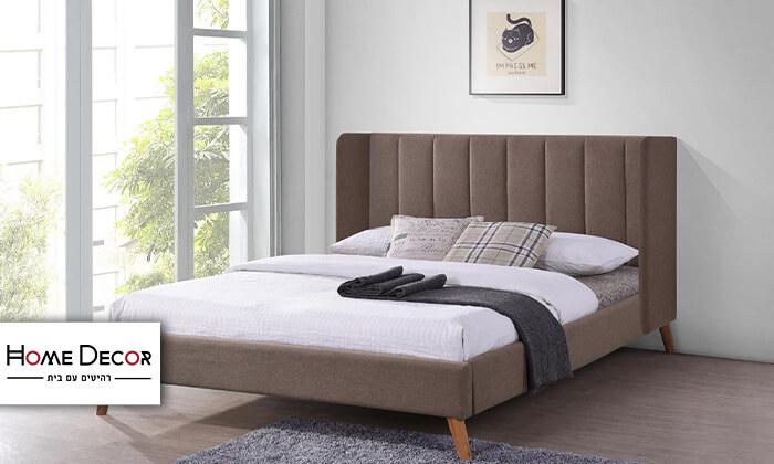 2 מיטה זוגית מרופדת HOME DECOR דגם אלמוג