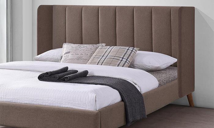 3 מיטה זוגית מרופדת HOME DECOR דגם אלמוג