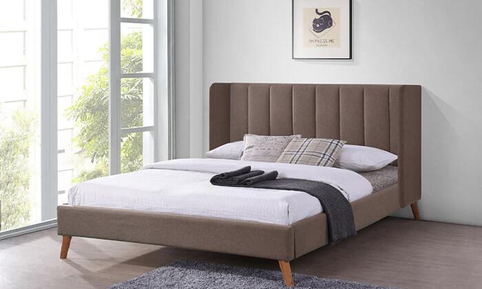 4 מיטה זוגית מרופדת HOME DECOR דגם אלמוג