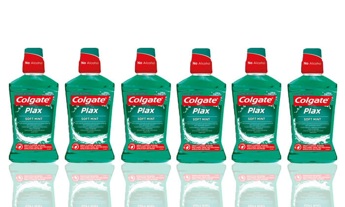 2 מארז חסכון עם 6 בקבוקי שטיפת פה Colgate-קולגייט